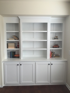 Built in bookcase 8 small