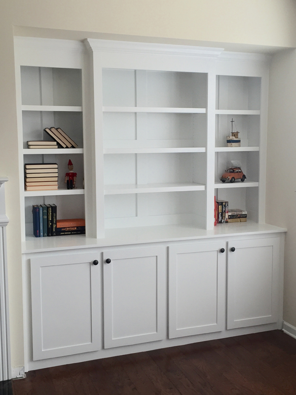 Built in bookcase 9 small