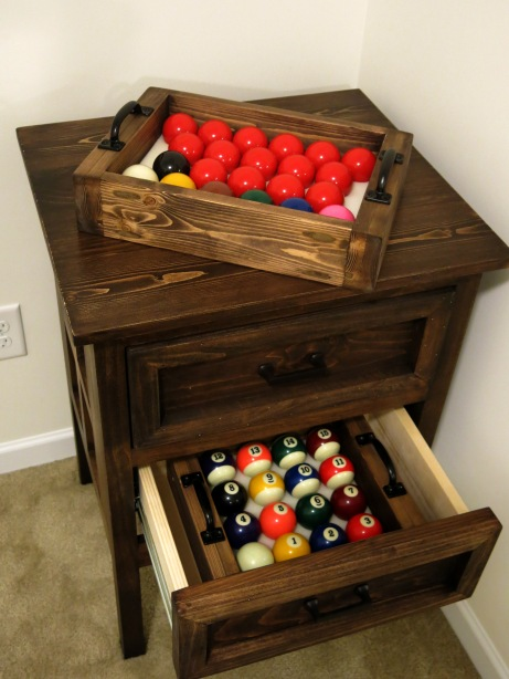 Snooker and Pool Ball Storage Cabinet