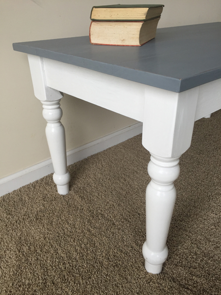 White and gray Coffee Table 2