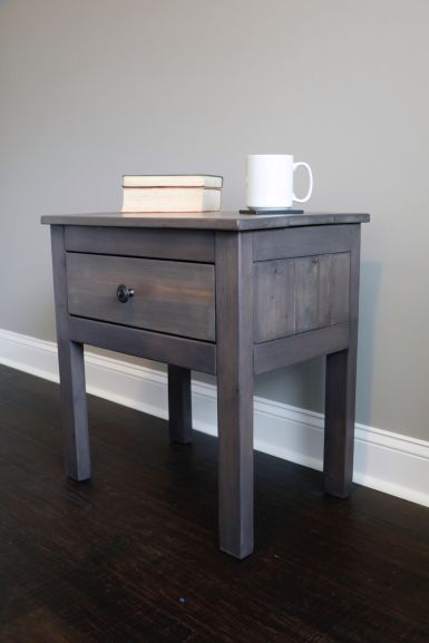 Gray Nightstand 2