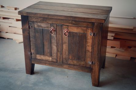 Stained Vanity with Stained top