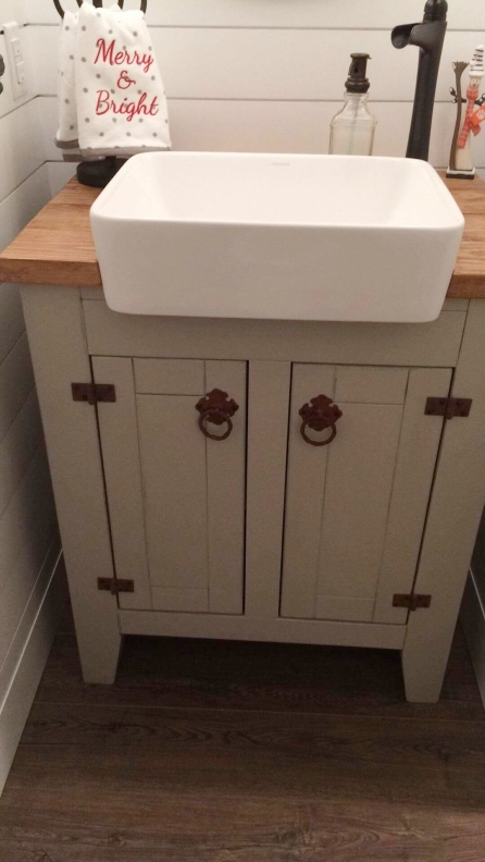 Vanity with Farmhouse Sink 1
